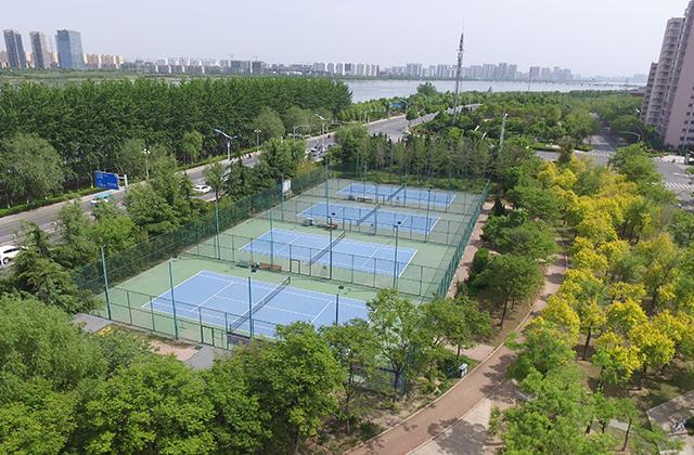 沂河沿岸运动球场